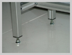 modular conveyor system self levelling feet